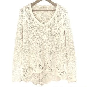 Anthropologie Sweaters - Anthropologie Yellow Bird Peaked Knit Sweater XS